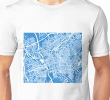 Columbia SC Map - Light Blue Unisex T-Shirt