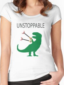 Unstoppable T.Rex Women's Fitted Scoop T-Shirt