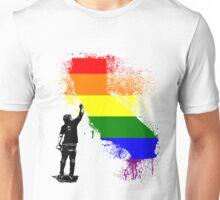 California Wall tagger Rainbow black Unisex T-Shirt