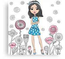 Cute fashion girl  Canvas Print