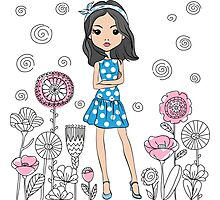 Cute fashion girl  Photographic Print