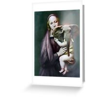 Madonna with Christ Child. Greeting Card