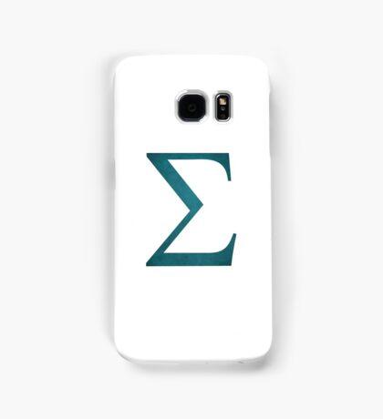 Sea Green Sigma Symbol Samsung Galaxy Case/Skin