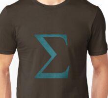 Sea Green Sigma Symbol Unisex T-Shirt