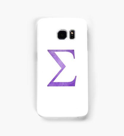 Purple Sigma Symbol Samsung Galaxy Case/Skin