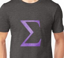 Purple Sigma Symbol Unisex T-Shirt