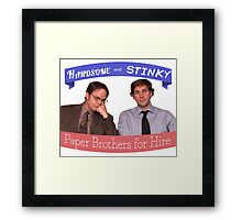 The Dunder Duo Framed Print
