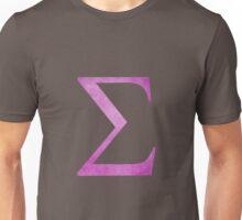 Pink Sigma Symbol Unisex T-Shirt
