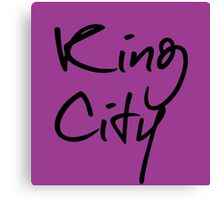 """Welcome To Night Vale """"King City"""" - Purple Canvas Print"""