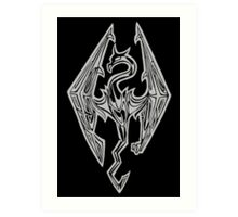 Dragon Symbol Skyrim Art Print