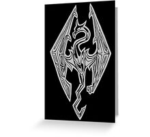 Dragon Symbol Skyrim Greeting Card