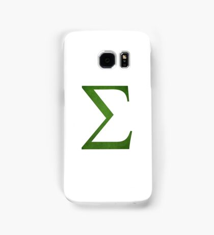 Green Sigma Symbol Samsung Galaxy Case/Skin