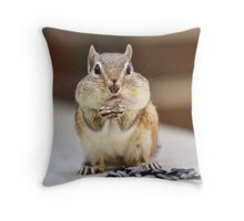 Fat Chipmunk Cheeks Throw Pillow