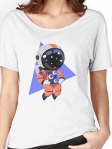 Cute Astronaut Character (Orange) Women's Relaxed Fit T-Shirt