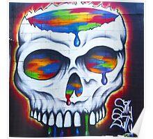 Paint Skull Poster
