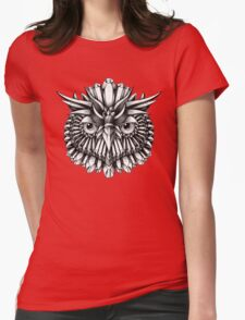 Crystal Owl Womens Fitted T-Shirt