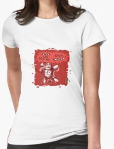 cartoon style voodoo baby with red background T-Shirt