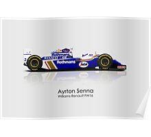 Ayrton Senna - Williams Renault FW16 Poster