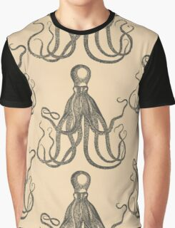 Vintage Natural History Octopus Graphic T-Shirt