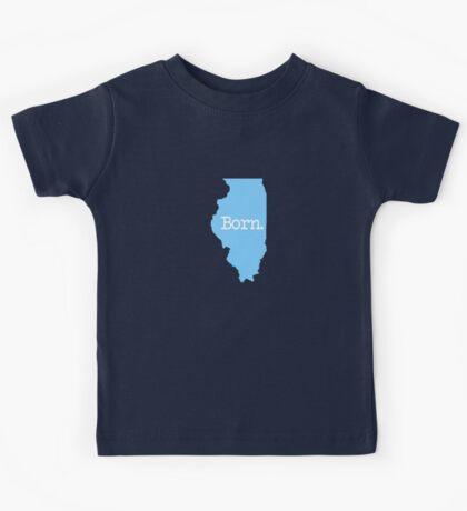 Illinois Born IL Blue Kids Tee