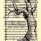 Handel Water Music Tree #1 by Rebecca Rees