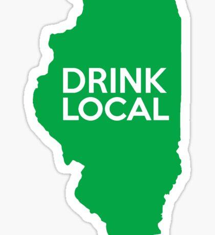 Illinois Drink Local IL Green Sticker
