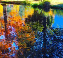 Awesome Queenstown Garden in Autumn, NZ Sticker
