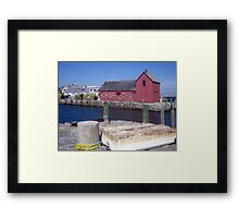 Dinghy Across from the Motif Framed Print