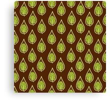 leaves on a brown background Canvas Print