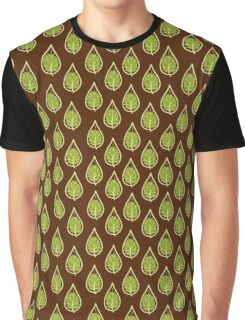 leaves on a brown background Graphic T-Shirt