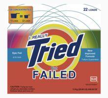 I Really Tried But Failed Baby Tee