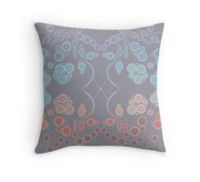 Flower Symmetry Lilac Gray Throw Pillow