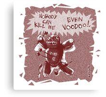 cartoon style voodoo baby  Canvas Print