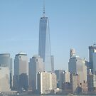 View of Lower Manhattan Skyline, One World Trade Center, New York City by lenspiro