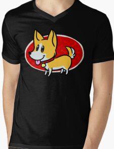 Cute Corgi Mens V-Neck T-Shirt