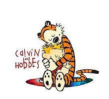 Calvin and Hobbes Big Hugs Nebula  Photographic Print
