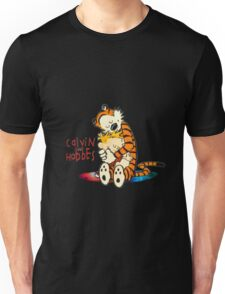 Calvin and Hobbes Big Hugs Nebula  Unisex T-Shirt