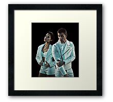Demi  Lovato and Nick Jonas Framed Print