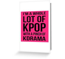 A LOT OF KPOP - PINK Greeting Card