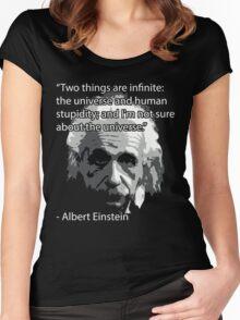 Einstein Quote Tee! Women's Fitted Scoop T-Shirt