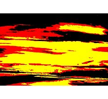 Psychedelic Sunset Photo Photographic Print