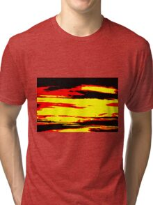 Psychedelic Sunset Photo Tri-blend T-Shirt