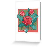 Waratah- NSW State flower Greeting Card