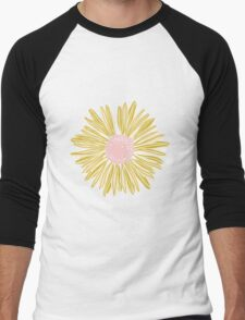 Gold Flower Men's Baseball ¾ T-Shirt