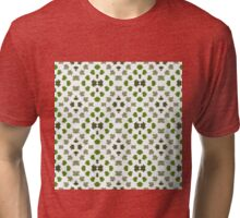 Green Leaves Pattern Tri-blend T-Shirt