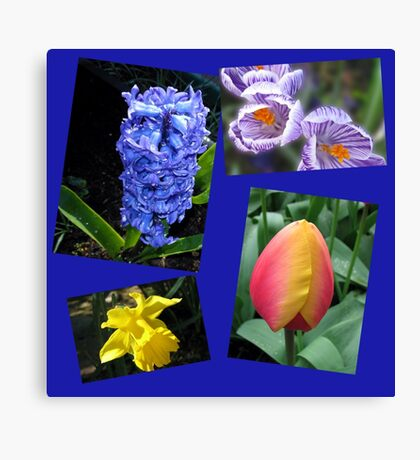 The Sweetness of Spring Floral Collage Canvas Print