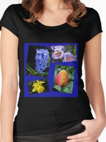 The Sweetness of Spring Floral Collage Women's Fitted Scoop T-Shirt
