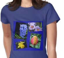 The Sweetness of Spring Floral Collage Womens Fitted T-Shirt