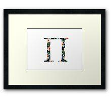 Pi Floral Greek Letter Framed Print