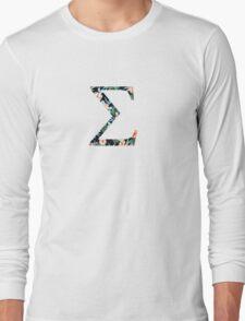 Sigma Floral Greek Letter Long Sleeve T-Shirt